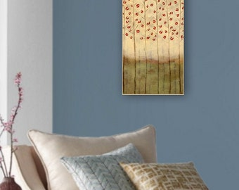 """Winter Garden - beeswax gallery wrapped canvas reproduction - 9"""" x 24"""" - Artist:  Sarah Faulkner"""