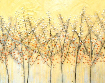 """Early Blossom - 12"""" x 24"""" beeswax wrapped canvas reproduction - Artist:  Sarah Faulkner"""