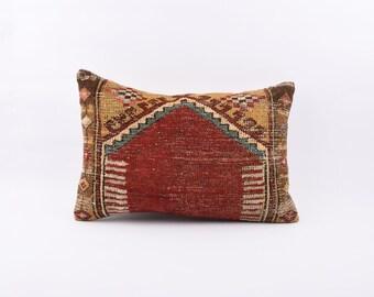 Kilim Pillow,Bohemian Lumbar Pillow,Throw Pillow,Kilim Pillow Cover 16x24,Turkish Pillow,Body Pillow Cover,Stripe Kilim Pillow Cover 2816