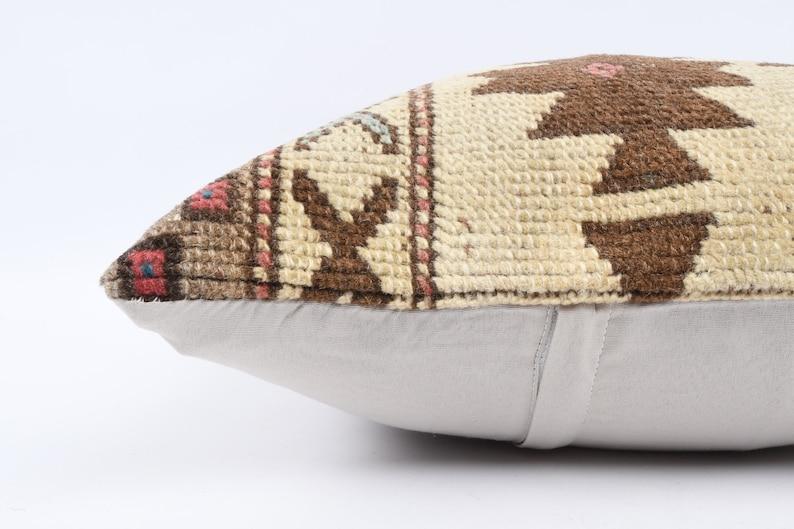 Vintage Kilim Pillow Handwoven Turkish Kilim Pillow Cushion Cover 16x16 Pillow Case Anatolian Kilim Pillow Decorative Throw Pillow