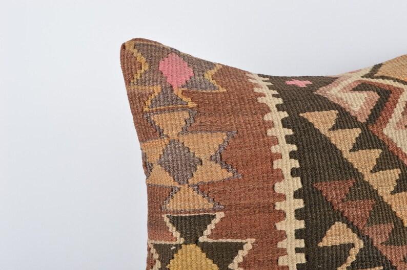 Kilim Cushion Cover Home Decor Sofa Throw Pillow 16x16 Bohemian Kilim Pillow Lumbar Pillow Decorative Throw Pillow Boho Kilim Lumbar