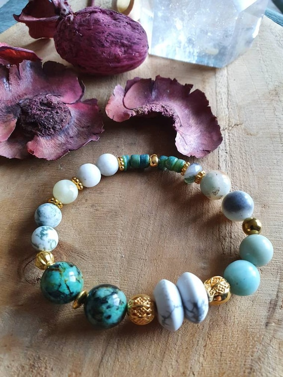 Magical! African turquoise meets Howlith.