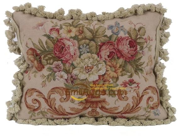 FFs5140 Lovely antique hand-embroidered rectangular pillow