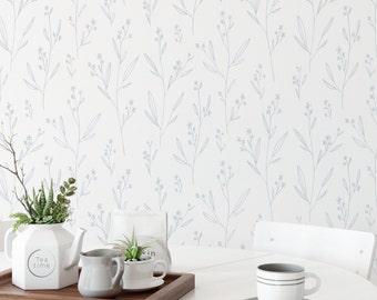 Light Blue Wallpaper Etsy