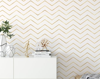 Peel And Stick Wallpaper Gold Etsy