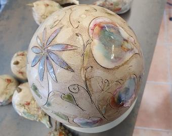 Ceramic egg, unique, handmade, Easter egg, decoration