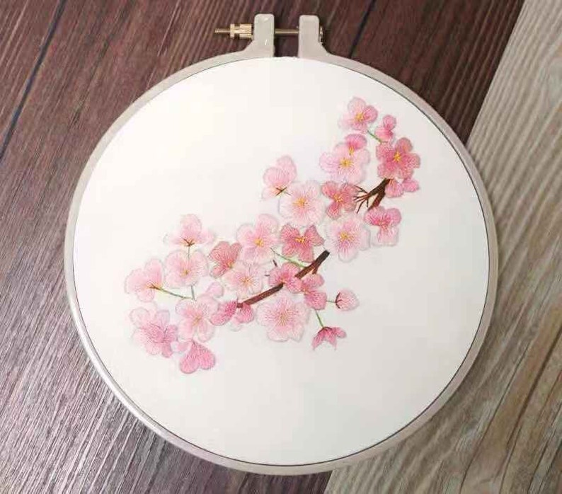 Fast Delivery For Beginner Embroidery Kit Hand Embroidery Kit-Cherry And Rose Modern Hand Embroidery DIY Embroidery Kit Christmas Gifts