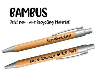 Personalized ballpoint pen   Bamboo pen with engraving - recycled material