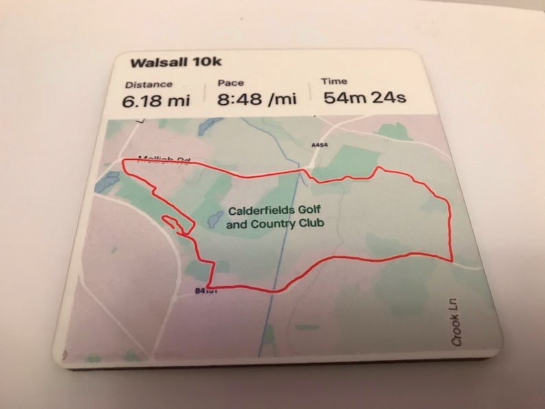 Strava map on a coaster running swimming biking walking healthy active fun novelty gift his hers