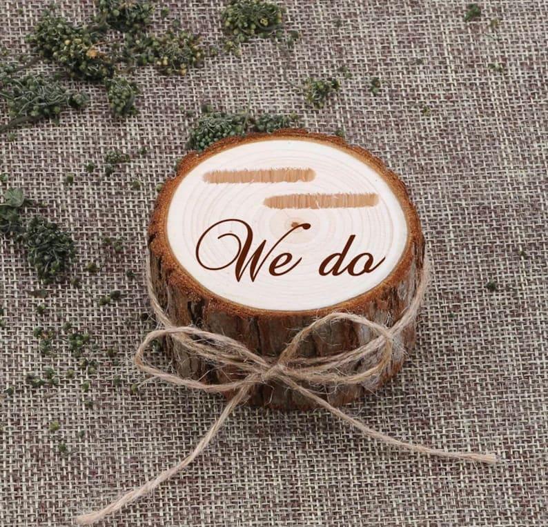 Farm Wedding We do Wood Ring Holder for weddings vow renewals Boho