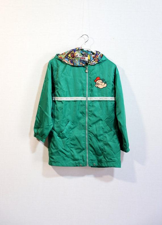 Vintage Popeye raincoat, childrens vintage clothin