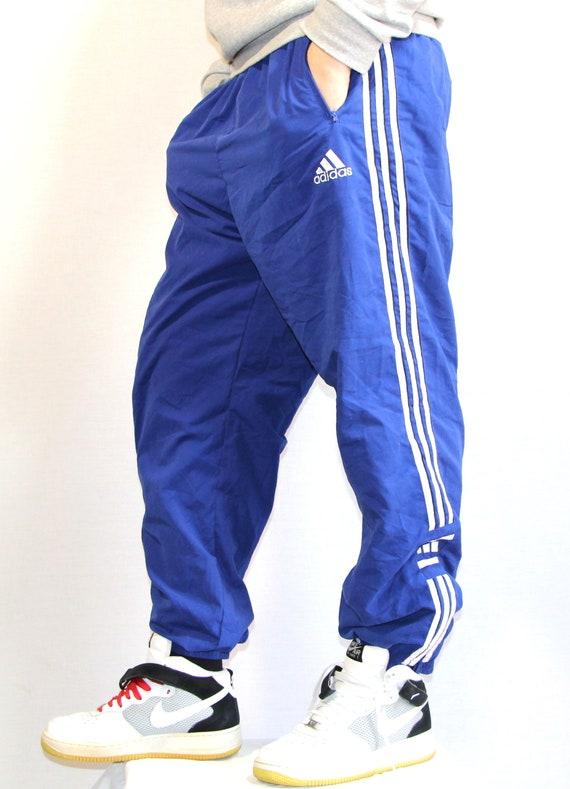 Vintage Adidas pants, mens vintage sports blue pan