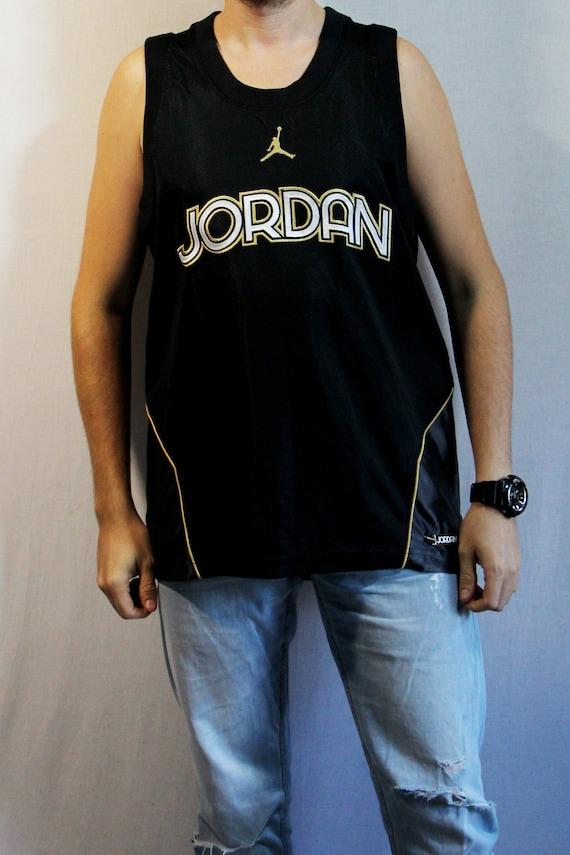 Vintage Jordan mens T-shirts, mens basketball blac
