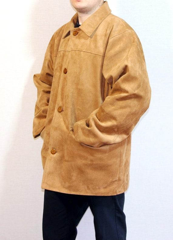 Vintage jacket, mens brown classic overcoat, vinta