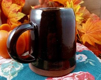 Black ceramic mug 10 ounces