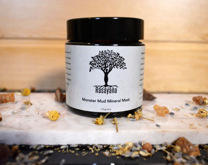 Monster Mud Mineral Mask | Acne Treatment | Lavender | Tee Tree Acne Skin Care | Anti-bacterial | Healing Mud