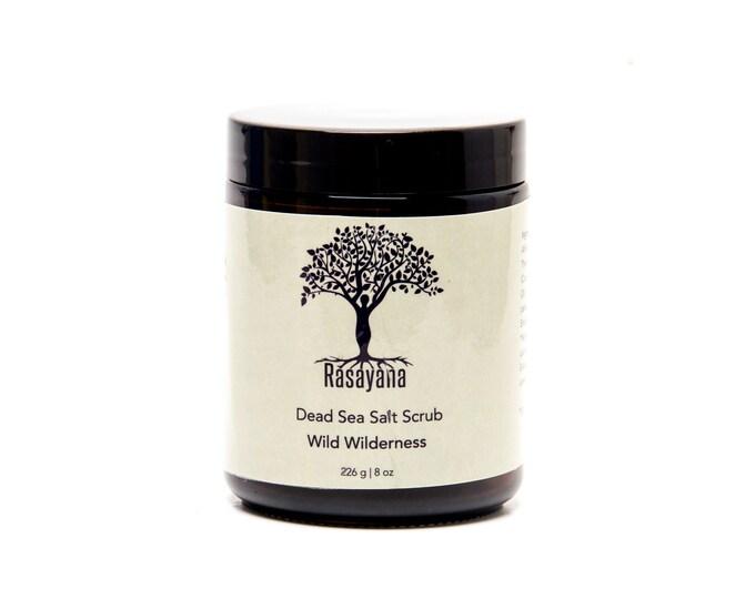 Wild Wilderness Creamy Body Scrub | Salt Scrub | Pine Needle |  Grapefruit | Dead Sea Salt | Small Batches | Cream | Dry Skin