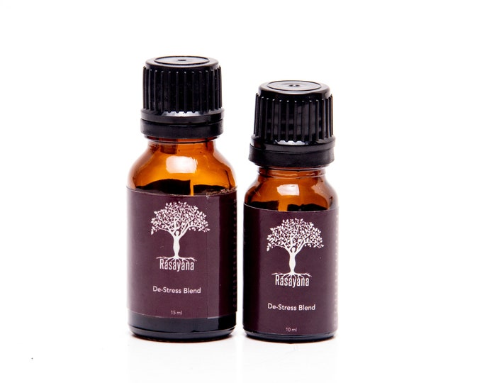 De-stress Pure EO Synergy | Immune Support Blend | Organic Oils|  Viral Load Reducer | Organic Essential Oils| Relaxation | Anti-stress