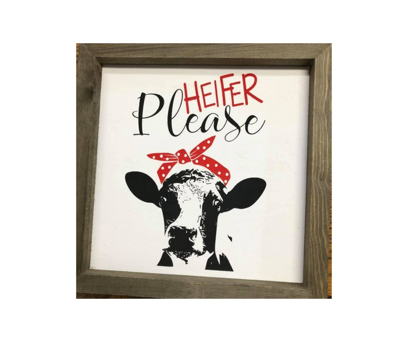 Funny Farmhouse decor farm crafting Cow Stencil Heifer Please Stencil home decor stencil farmhouse DIY reusable crafting stencil