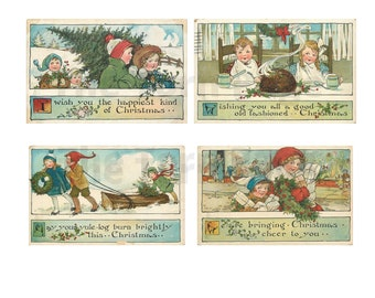 Gloriously Nostalgic Vintage Christmas Cards, Printable Christmas Images, Craft Projects, Journals and Scrapbooks, Commercial Use