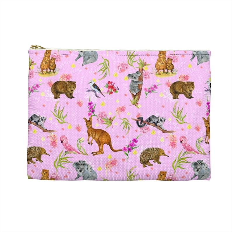 Accessory Pouch Coin Purse Makeup Bag Australian Animals Print Australian outback animals