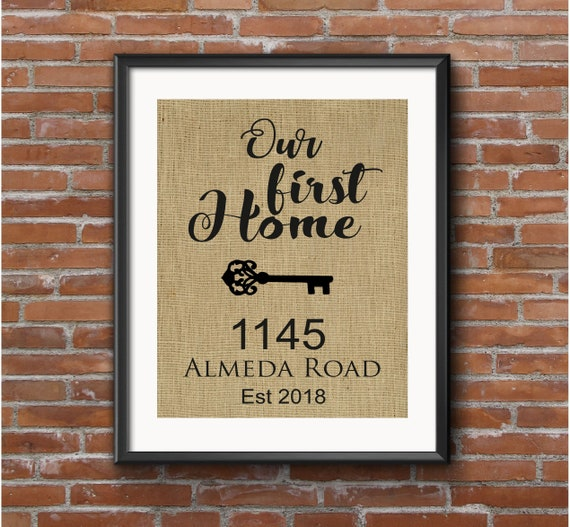 Our First Home New Home Gifts Our First Home Personalized Frame New Home Housewarming Gift Personalized New Home Frame Personalized Home Frame New Home Decor