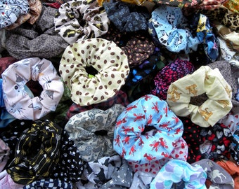 Scrunchies, Make Your Own Pack of Scrunchies, Fall Pumpkin Scrunchies, Scrunchie Set, Animal Scrunchies, Girls Hair Accessory, Dog Scrunchie