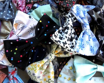 Hair Bows for Girls, Make Your Own Pack of Bows, Hair Bows with Clip, Hair Accessories for Girls, Handmade Cotton Bows