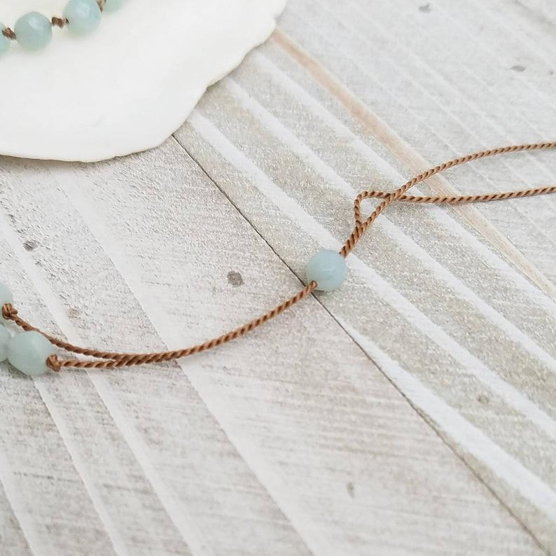 Amazonite /& Silk Cord Necklace