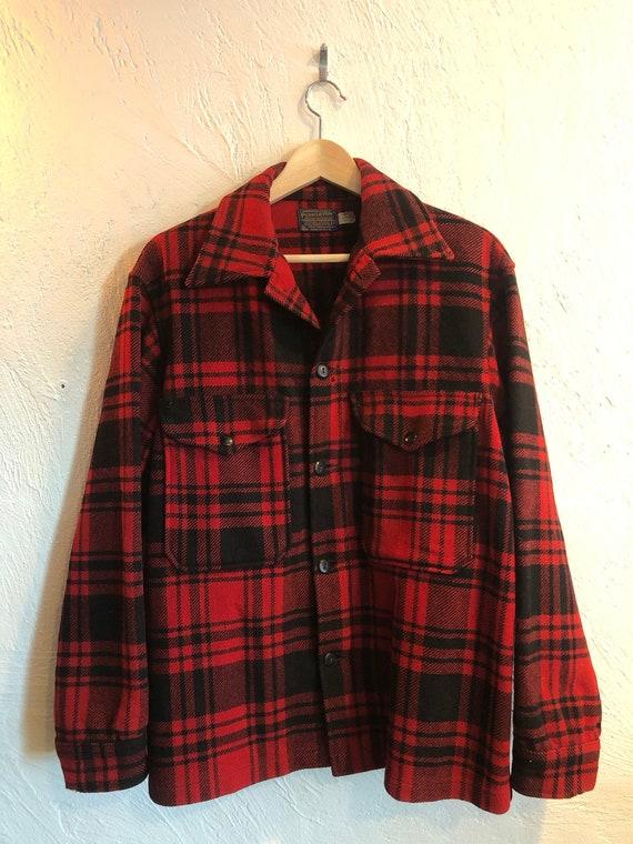 Vintage Pendleton Plaid Mackinaw Wool Shirt Jacket