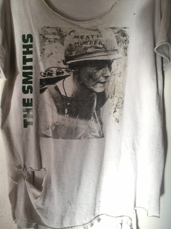 The Smiths Meat is Murder Vintage Thrashed T Shirt