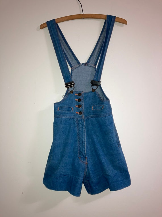 70s Denim High Waisted Jumpsuit