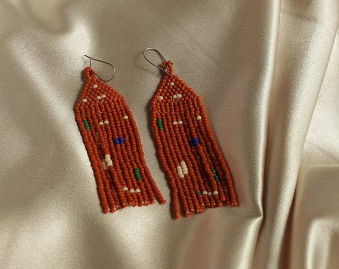 Clara • Handwoven Beaded Jewelry / Seed beads / Statement Earrings