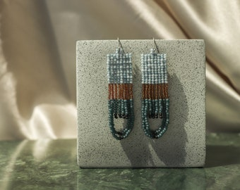 Gloria • Handwoven beaded jewelry / Seed beads / Statement earrings / Dangle earrings
