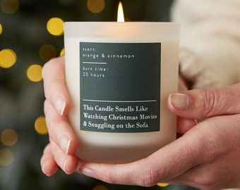 Smells Like Christmas Movies and Snuggles Candle