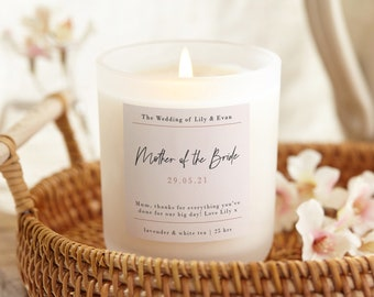 Mother of the Bride Thank You Gift Candle