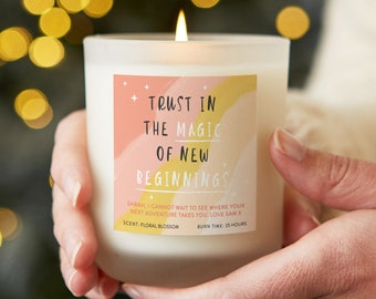 Trust in New Beginnings Uplifting Affirmation Candle