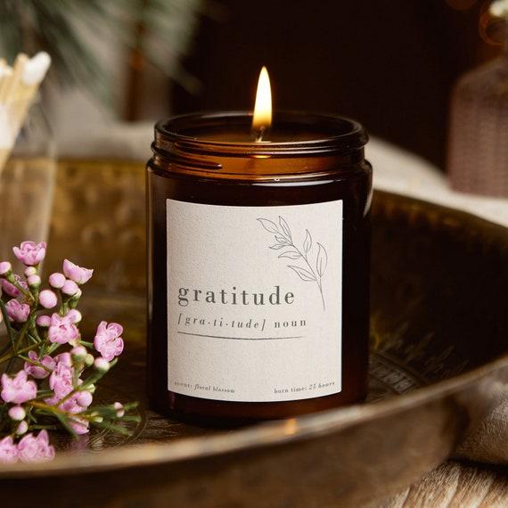 Gratitude Mindfulness Candle