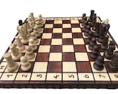 Folding Wooden Chess Set  Chess Board Game   Decorative Folding Chess Board Set  Chess Lover Gift Handcrafted Chess Board Set  Birthday Gift