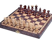 Wooden Chess Set Hand Crafted Chess Set Chess Board Game Decorative Chess Pieces and Folding Chess Board Set  Handmade chess Christmas Gifts