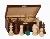 Chess Pieces Wooden Chess Pieces Staunton Style Wooden Chess Set Handmade Chess Set Gift For Chess Lover,Handcrafted Chess Set