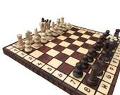 Folding Wooden Chess Sets UK  Chess Board Game  Decorative Folding Chess Board Set  Chess Gift Handcrafted Chess Board Set UK Birthday Gift