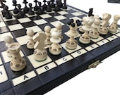 Handcrafted Chess Set  Wooden Chess Set UK Chess Board Game Decorative Chess Pieces  Folding Chess Board Set  Birthday gift Fathers Day Gift