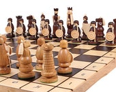 Wooden Chess Set | Handcrafted Chess Set | Chess Board Game | Decorative Chess Pieces | Folding  Chess Board Set | Great Birthday Gift