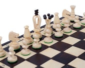 Wooden Chess Set with storage | Handcrafted Chess Set UK | Chess Board Game | Decorative Chess Pieces | Folding  Chess Board | Ideal Gift