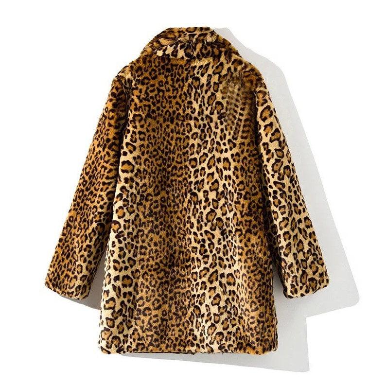 Winter Jacket high quality animal print jacket Fur jacket Women Leapord print fur jacket Leapord Print Women Jacket