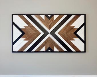 Made to order wood wall art - Custom wall art - geometric wood wall art