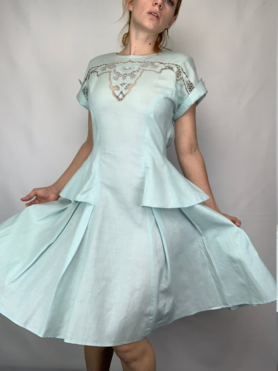 1990s Does 40s Icy Dress