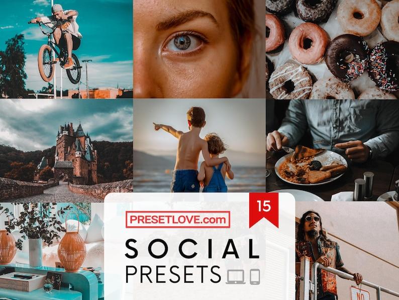 15 SOCIAL MEDIA FILTERS Mobile Presets Instagram Lightroom image 0