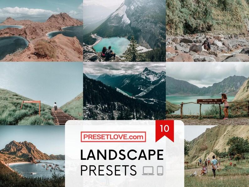 10 Premium Presets for All Landscapes  Lightroom Mobile and image 0